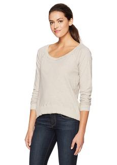 Three Dots Women's Slub Jersey Off Shoulder Sweatshirt  L
