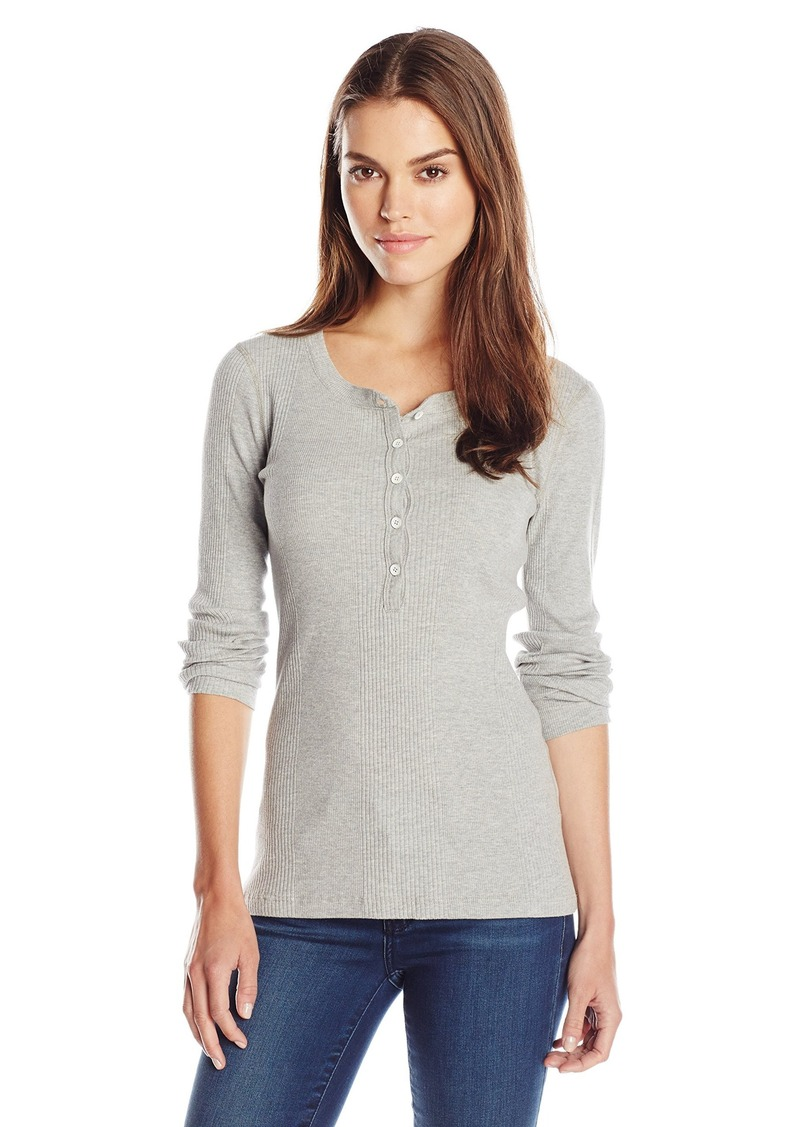Three Dots Women's Sofia Rib Henley