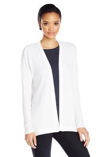 Three Dots Women's Soft Brush Sweater Knit Open Cardigan  L