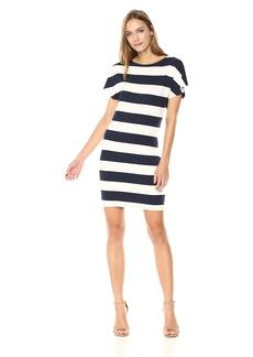 Three Dots Women's South Hampton Stripe Short Loose Dress