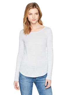 Three Dots Women's Space dye Linen Tight mid Shirt