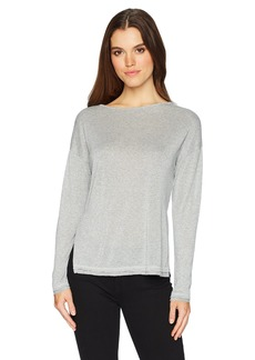 Three Dots Women's Sparkle Boatneck Loose Mid Shirt