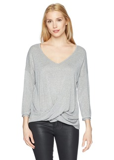 Three Dots Women's Sparkle Sweater Loose Mid Shirt  Xtra Small