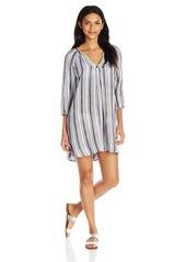 Three Dots Women's Stripe Cover Up Dress  L
