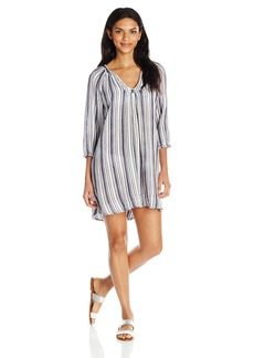 Three Dots Women's Stripe Cover up Dress  XL