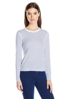Three Dots Women's Stripe Long Sleeved Tee  XS