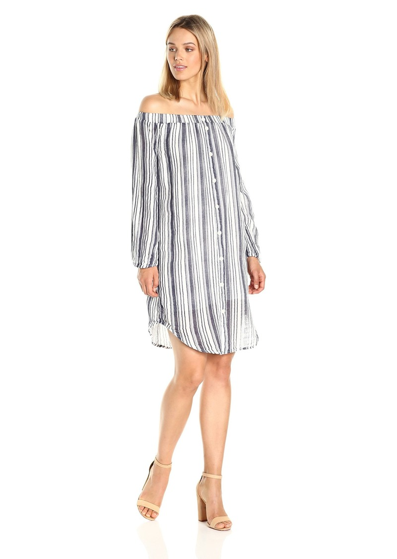 Three Dots Women's Stripe L/s Shirt Tunic  M