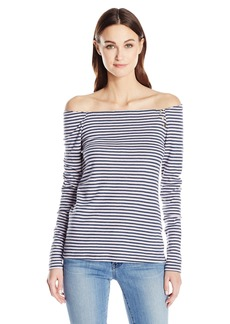 Three Dots Women's Stripe Resort Tee Hampton S