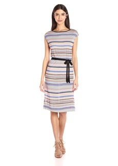 Three Dots Women's Striped Dress  L