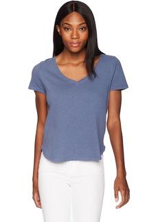 Three Dots Women's Sueded Slub Mid Loose Shirt  Extra Small