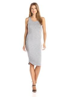 Three Dots Women's Sweater Slub Shirred Tank Dress