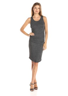 Three Dots Women's Sweater Slub Shirred Tank Dress