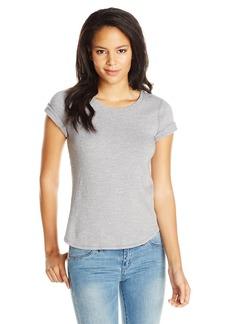 Three Dots Women's Sweater Slub Short Sleeve Crew Neck Tee