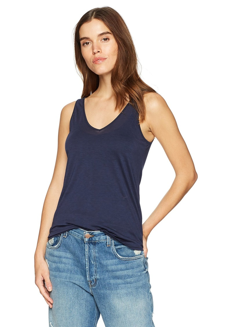 Three Dots Women's Tencel Loose mid Tank Night iris