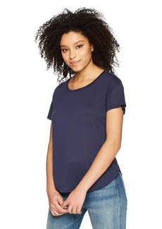 Three Dots Women's Tencel Short Loose s/s tee Night iris
