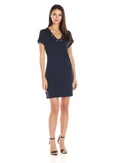 Three Dots Women's Tie Front Dress  XL