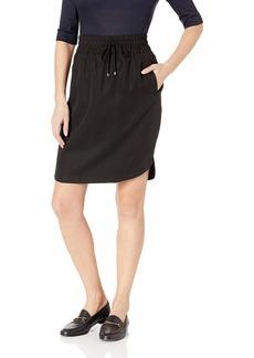 Three Dots Women's TV3252 All Weather Twill Shirt Tail Hem Skirt