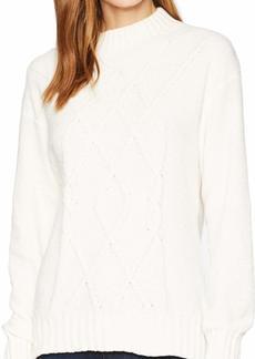 Three Dots Women's UC2718 Chenille Mock Neck Sweater  Extra Small