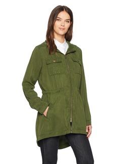 Three Dots Women's Utility Loose Long Jacket