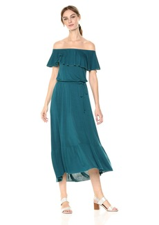 Three Dots Women's Vintage Jersey Long Loose Dress  Extra Small