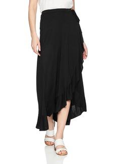 Three Dots Women's Vintage Jersey Loose mid wrap Skirt