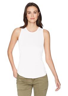 Three Dots Womens Vintage Jersey V-Neck Short Loose Top
