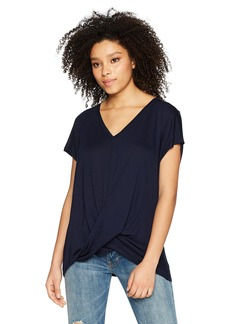 Three Dots Women's Vintage Jersey Short Loose Twist Top