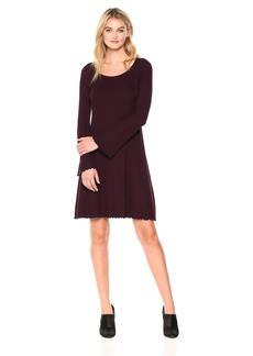 Three Dots Women's Viscose Rib Easy Loose Long Dress  Xtra Small