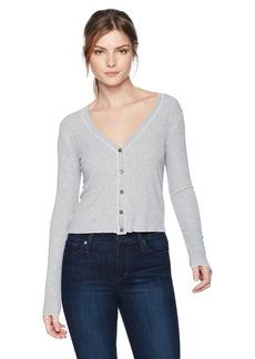 d366b1eee Three Dots Women s Viscose Rib Grey Short Loose Cardigan