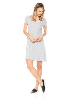 Three Dots Women's Viscose Rib Mid Loose Dress  Extra Small