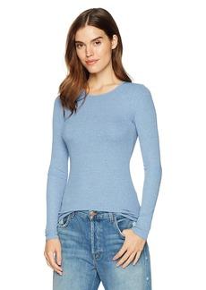 Three Dots Women's Viscose Rib mid Tight Shirt  Extra Small