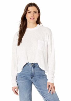 Three Dots Women's VJ2821 ECO Mock Neck Crop L/S TEE