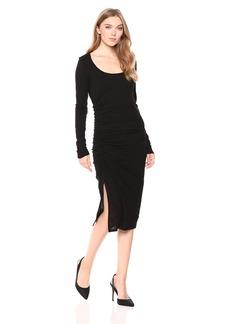 Three Dots Women's VJ5860 eco Knit l/s Shirred Dress