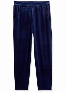 Three Dots Women's VM6175 Stretch Panne Velvet Tapered Pant  Extra Small