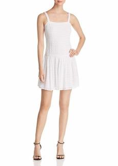 Three Dots Women's Woven Eyelet Short Loose Dress