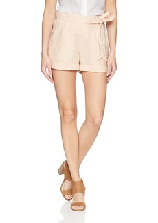 Three Dots Women's Woven Linen Loose Short