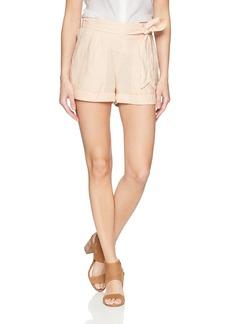 Three Dots Women's Woven Linen Loose Short