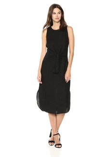 Three Dots Women's Woven Linen Mid Loose Dress