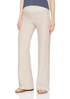 Three Dots Women's Woven Linen Wide Loose Pant  Extra Large