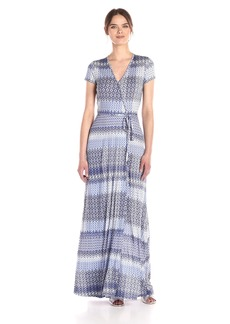 Three Dots Women's Wrap Maxi Dress  L
