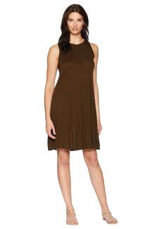 Three Dots Vintage Jersey Sleeveless Swing Dress