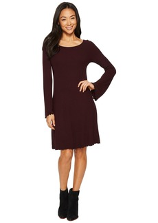 Three Dots Viscose Rib Easy Dress