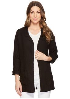 Three Dots Woven Linen Blazer