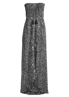 Tiare Hawaii Flynn Star Speckled Lace-Up Tassel Maxi Dress