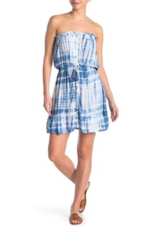 Tiare Hawaii Strapless Mini Tie Dye Dress