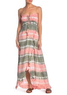 Tiare Hawaii Strapless Tie Dye Maxi Dress