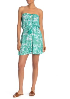 Tiare Hawaii Strapless Tie Dye Mini Dress