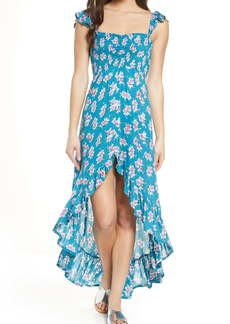 Tiare Hawaii Smocked Bodice Cover-Up Maxi Dress
