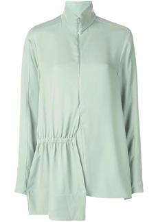 Tibi modern drape zip front tunic top