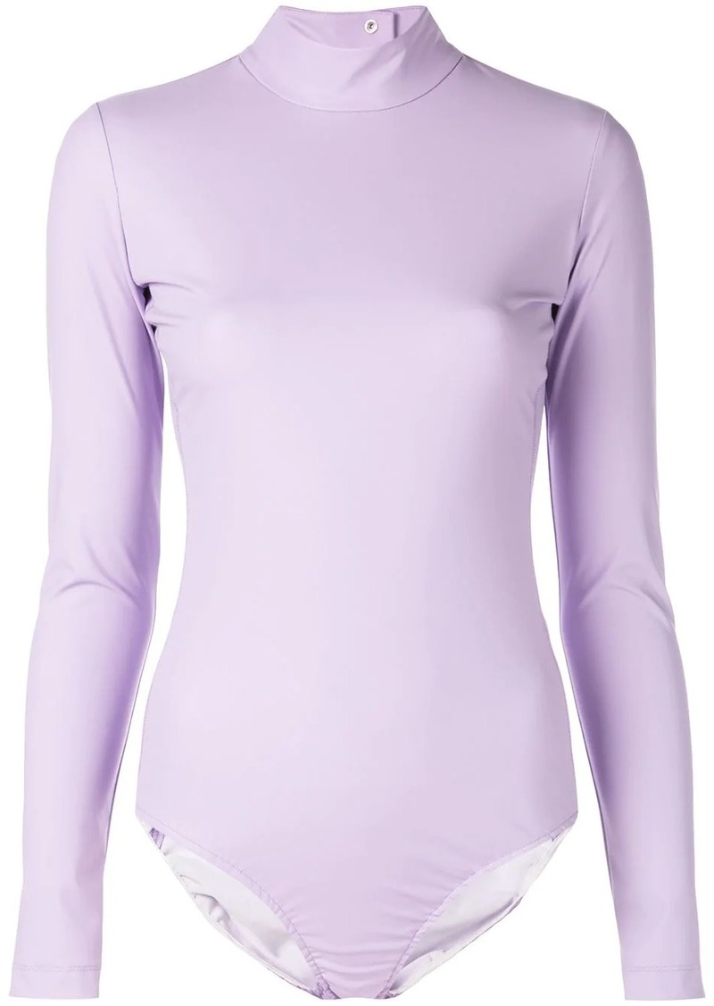 Tibi high neck scuba bodysuit